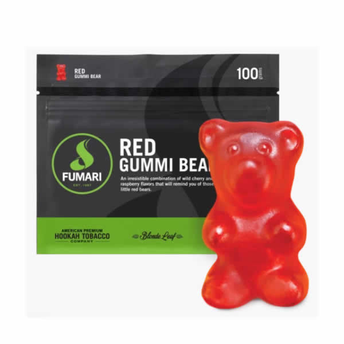 FUMARI RED GUMMI BEAR 100G/UND