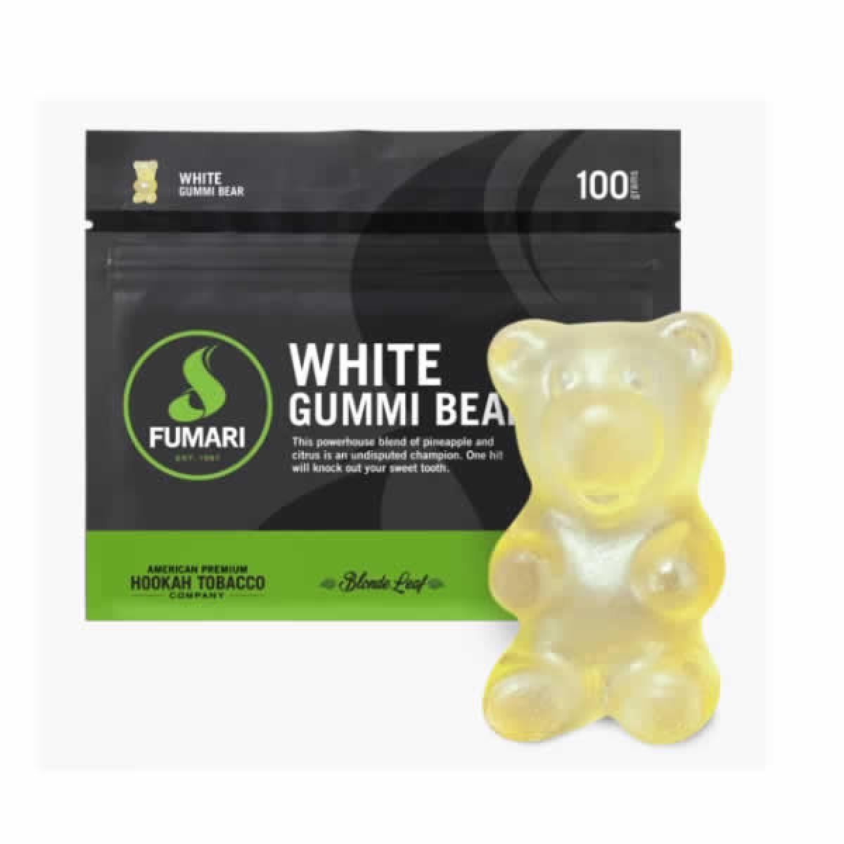 FUMARI WHITE GUMMI BEAR 100G/UND