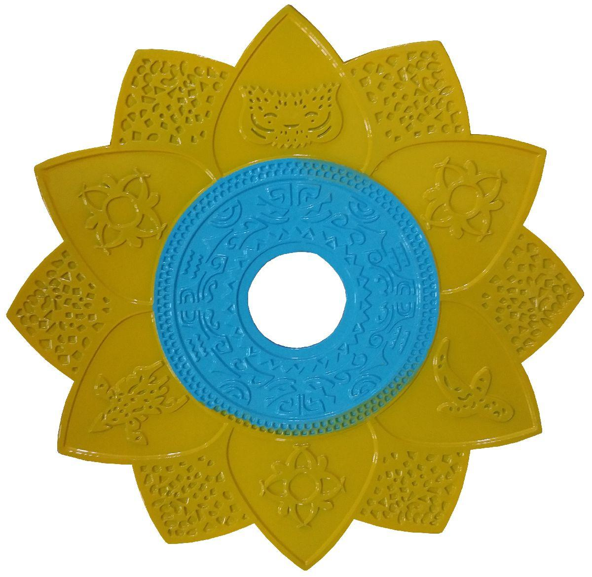 Prato Fumee 1718 Amarelo c/ Azul