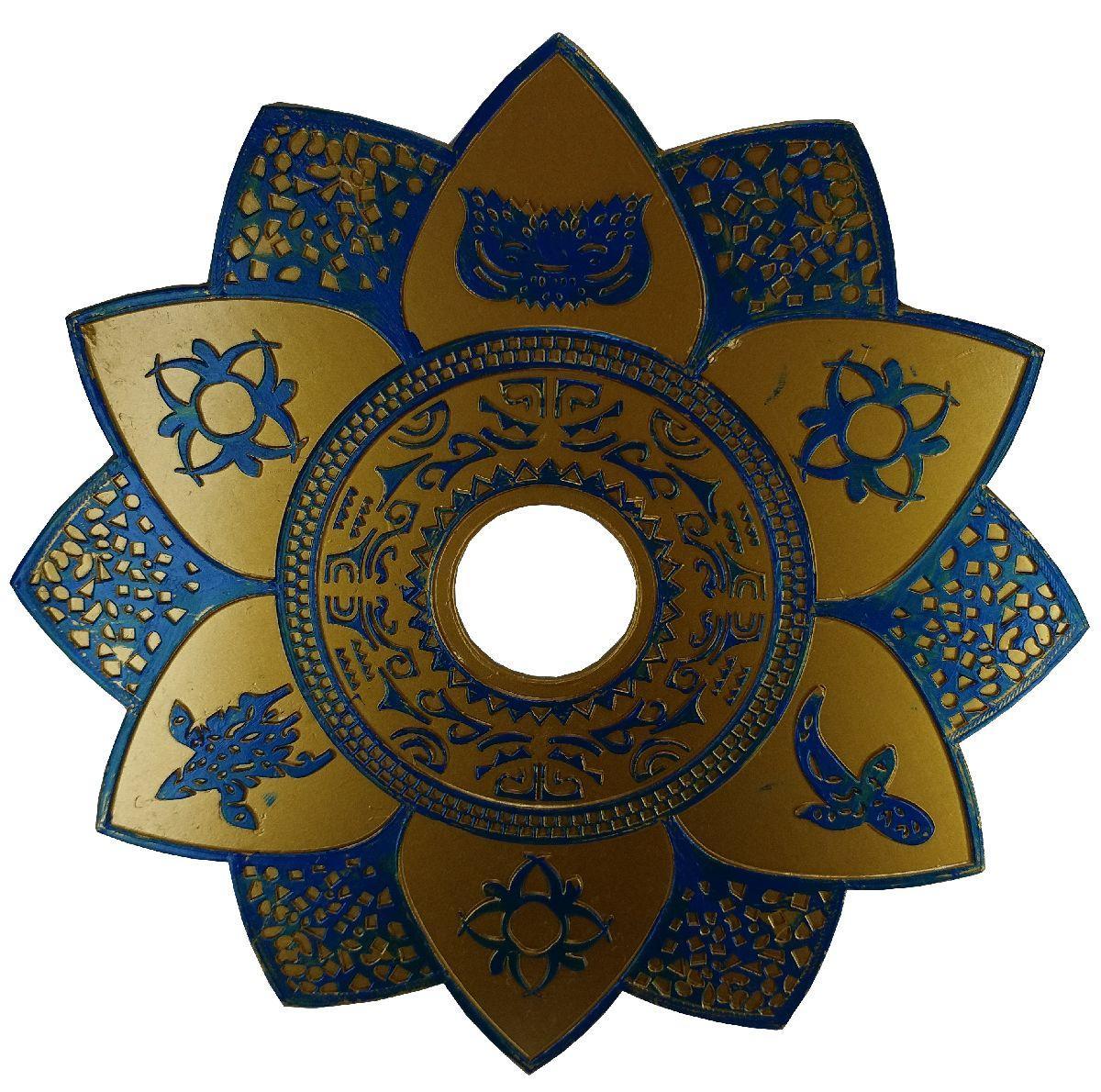Prato Fumee 6103 Dourado c/ Azul
